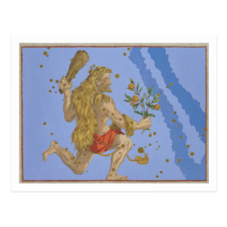 Constellation of Hercules Lion's Pelt, from 'Urano Postcard