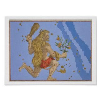 Constellation of Hercules Lion's Pelt, from 'Urano Poster
