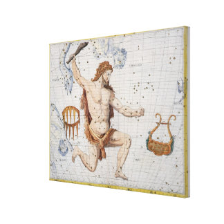 Constellation of Hercules with Corona and Lyra, pl Canvas Print