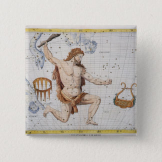 Constellation of Hercules with Corona and Lyra, pl Pinback Button