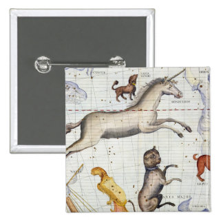 Constellation of Monoceros with Canis Major and Mi Pinback Button