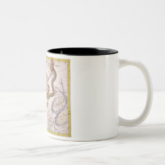 Constellation of Ophiucus and Serpens, plate 22 fr Two-Tone Coffee Mug