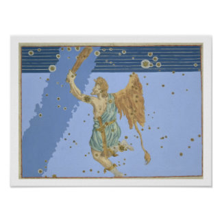 Constellation of Orion, from 'Uranometria' by Joha Poster
