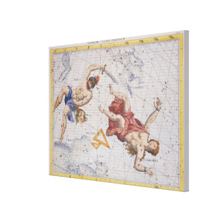 Constellation of Perseus and Andromeda, from 'Atla Canvas Print