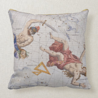Constellation of Perseus and Andromeda, from 'Atla Throw Pillow