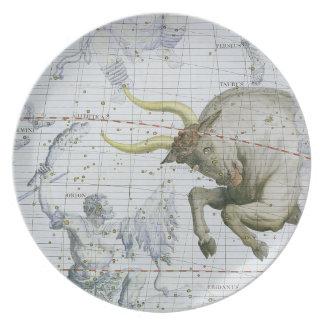 Constellation of Taurus, plate 2 from 'Atlas Coele