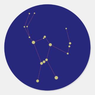 Constellation Orion constellation Classic Round Sticker