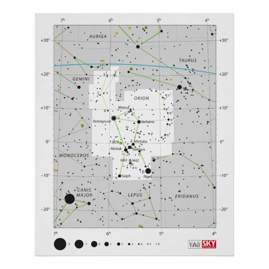 Constellation Orion The Hunter Chart