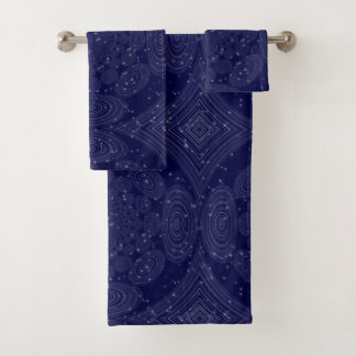 Constellation Parallel Universe Shibori Space Time Bath Towel Set