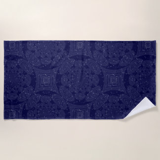 Constellation Parallel Universe Shibori Space Time Beach Towel