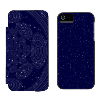 Constellation Parallel Universe Shibori Space Time Wallet Case For iPhone SE/5/5s