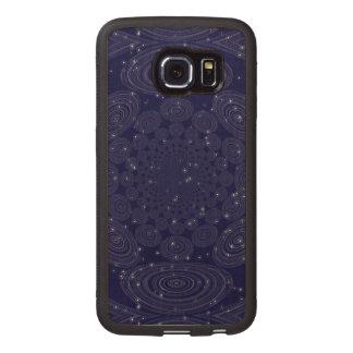 Constellation Parallel Universe Shibori Space Time Wood Phone Case