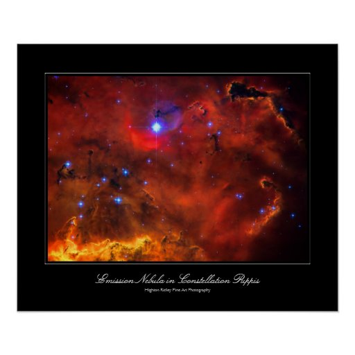 Constellation Puppis Nebula, Hubble space picture Poster