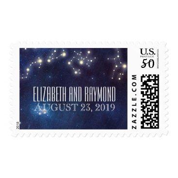 Wedding Themed Constellation Starry Night Wedding Postage