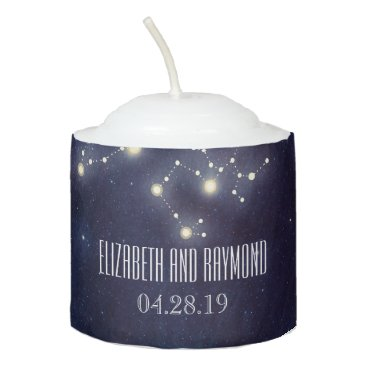 Wedding Themed Constellation Starry Night Wedding Votive Candle