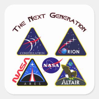 Constellation: The Next Generation Square Sticker