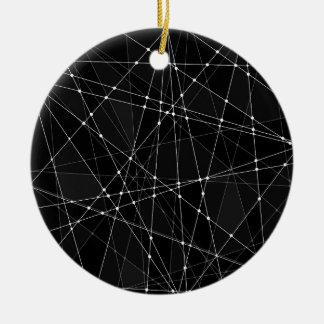 Constellations 3 ceramic ornament