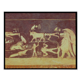 Constellations, from the funerary chamber print