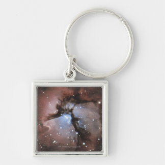Constellations Silver-Colored Square Keychain
