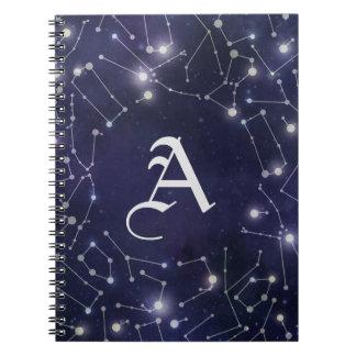 Constellations Monogram Spiral Notebook