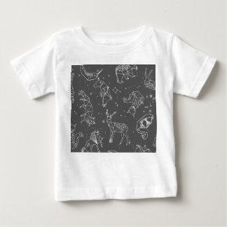 Constellations Night Star Sky Grey Andrea Lauren Baby T-Shirt