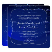 Constellations on Blue Wedding Invitation