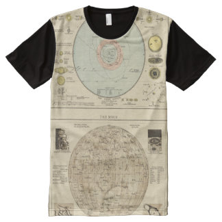 Constellations, Solar System, Moon All-Over Print T-shirt