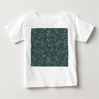 Constellations Zodiac / Grey Green / Andrea Lauren Baby T-Shirt