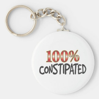 Constipated 100 Percent Keychain
