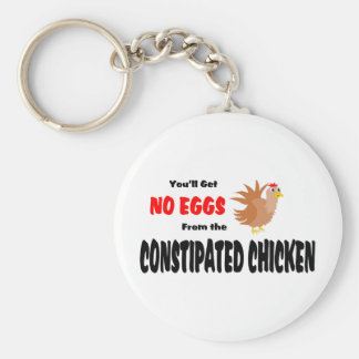 Constipated Chicken Key Chain
