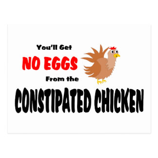 Constipated Chicken Postcards