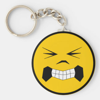 constipated [Converted] Basic Round Button Keychain
