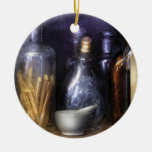 Constipated Double-Sided Ceramic Round Christmas Ornament