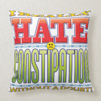 Constipation Hate Face Throw Pillow