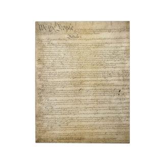 Constitución de Estados Unidos del vintage Blocs De Notas