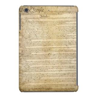 Constitución de Estados Unidos del vintage Funda De iPad Mini