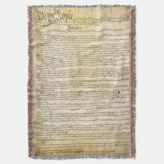 Constitución de Estados Unidos del vintage Manta
