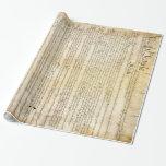 Constitución de Estados Unidos del vintage Papel De Regalo