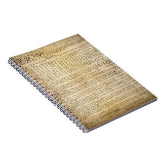 Constitución de Estados Unidos del vintage Spiral Notebooks