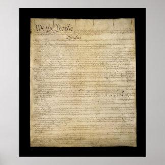 Constitución de Estados Unidos Póster