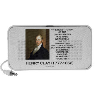 Constitución de Henry Clay de la posteridad de Mp3 Altavoces