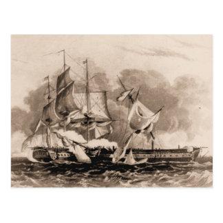 Constitución de la nave de los E.E.U.U. en el mar Tarjeta Postal