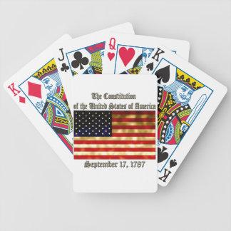 Constitución de los E.E.U.U. Baraja Cartas De Poker