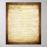 Constitución de los E.E.U.U. nosotros la gente Poster