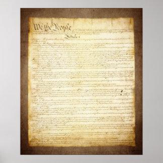 Constitución de los E E U U nosotros la gente Poster