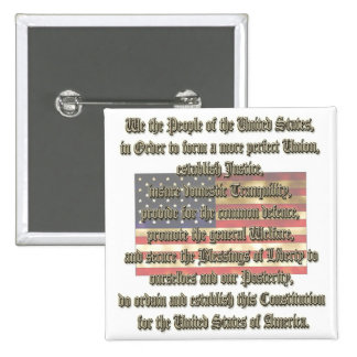 Constitución de los E.E.U.U. Pin Cuadrado