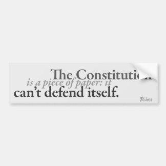 Constitución de papel pegatina para auto