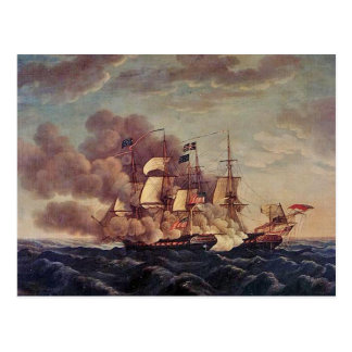 Constitución de USS contra HMS Guerriere Tarjeta Postal