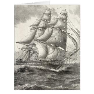 Constitución de USS Tarjeta De Felicitación Grande