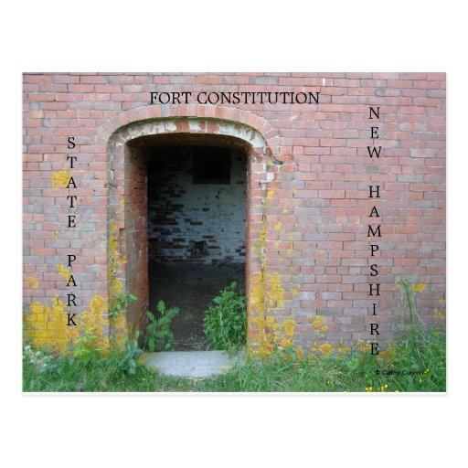 Constitución del fuerte tarjetas postales